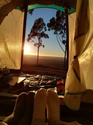 camping família x serra catarinense montanha da neve bom retiro sc santa catarina acampamento primitive  neve geada 2019 barraca quechua9