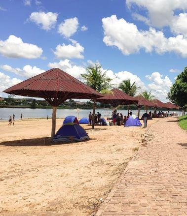 Camping Improvisado - Lago Bom Sucesso - Jataí 2