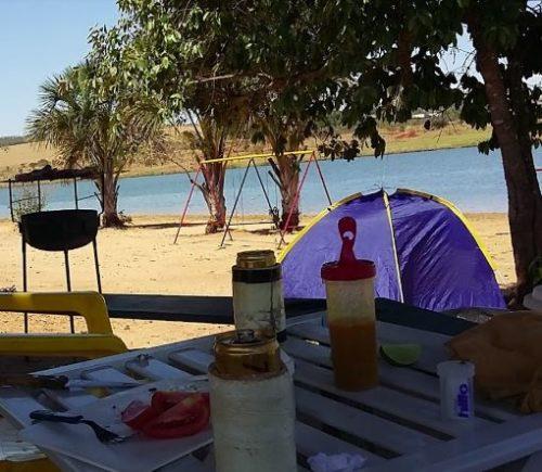 Camping Improvisado - Lago Bom Sucesso - Jataí 4