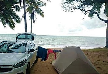 Camping Selvagem - Praia de Bitingui - Japaratinga