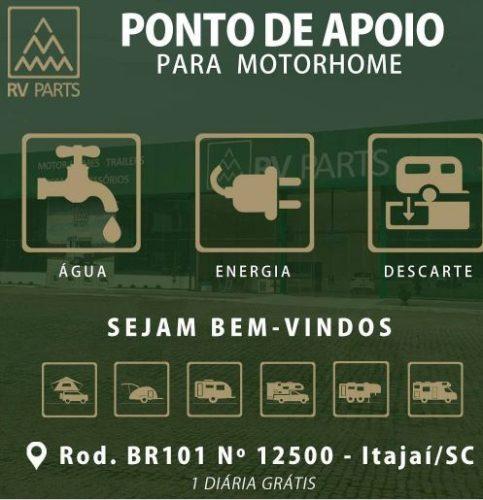 Apoio RV – PONTO DE APOIO DA RV PARTS – Itajaí
