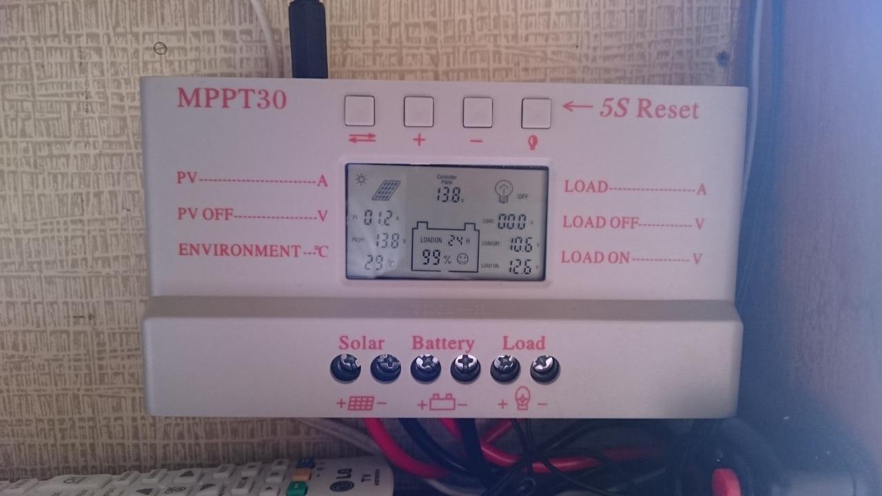 carregador solar de 30A