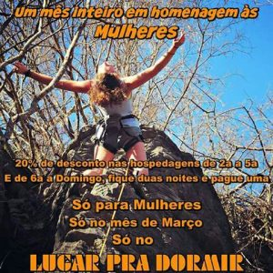 Promoção Para o Mês das Mulheres no Camping