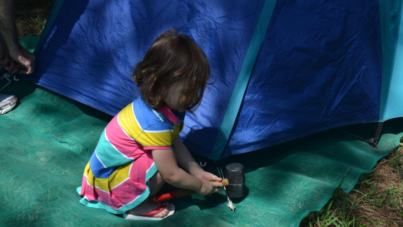 infancia no camping