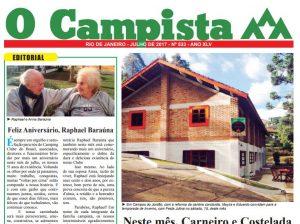 """Edição de 07/2017 do Jornal """"O Campista"""" do CCB"""