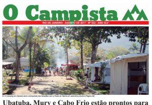 """Edição de 08/2017 do Jornal """"O Campista"""" do CCB"""