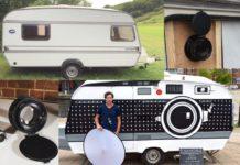Trailer Antigo é Transformado em Câmera Fotográfica Ambulante