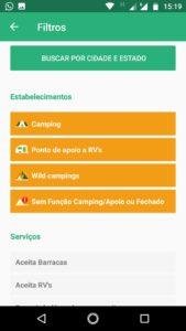 Filtros de Busca-app macamp